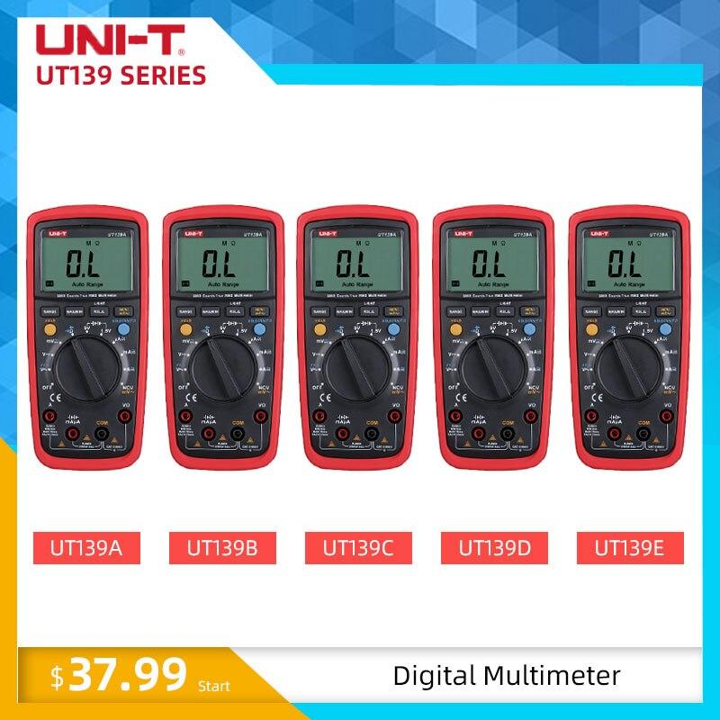 Unité UT139E multimètre numérique haute précision vraie gamme automatique RMS NCV température capacité 6000 fréquence de comptage LPF UT139S
