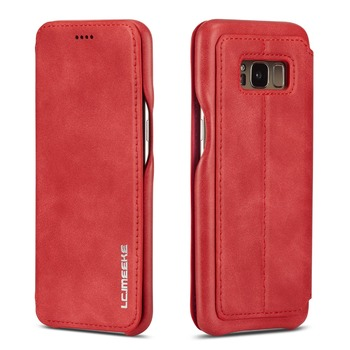 Galaxy S8 Red Leather Case 5