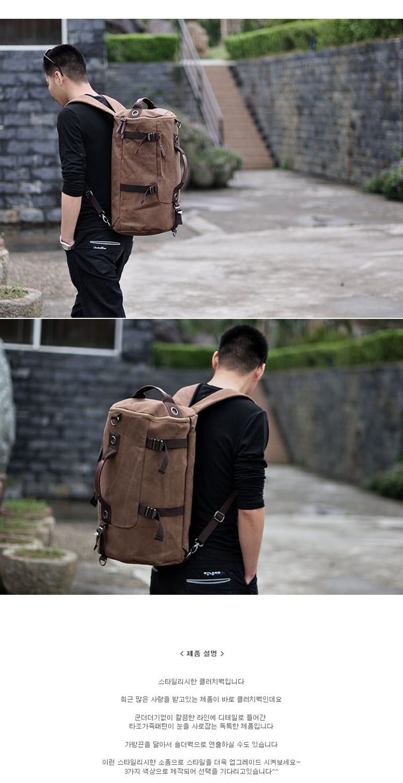Men's Multi-Functional Backpack Vintage Shoulder Bag High Quality Canvas Male Bagpack Rucksack Travel Luggage for Weekend 36