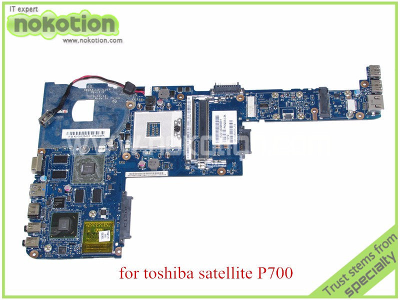 NOKOTION PBQAA LA-7101P REV 1.0 MB K000123420 for toshiba satellite P700 P745 Laptop motherboard HM65 GeForce GT525M k000055760 laptop motherboard for toshiba satellite a200 a205 iskaa la 3481p rev 2a intel gl960 ddr2 without graphcis slot