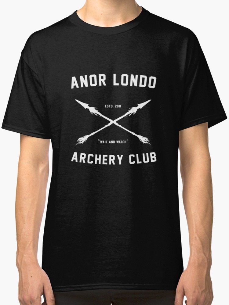 Formal Shirts 100% Cotton Crew Neck Anor <font><b>Londo</b></font> - Archery Club Short Sleeve Tee For Men image