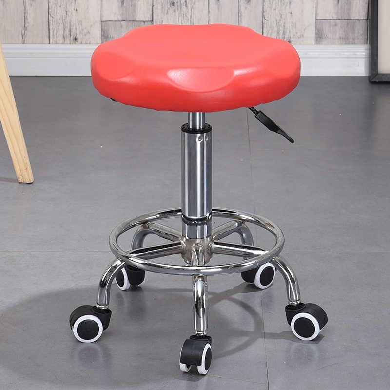 Salon Rolling Swivel Stool Tato Pijat Spa Tinggi Kursi Dapat Disesuaikan untuk Kamar Mandi