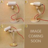 Loft Vintage Industrial Table Light Edison Desk Lamp Log Wood Lamp Fold Unfold Cafe Bar Bedroom Home Decor