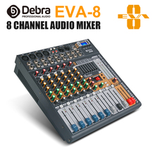 Debra Audio EVA-8 8 Channel MixerDJ & Studio Console Mixer System Built-in Bluetooth Wireless Receiver