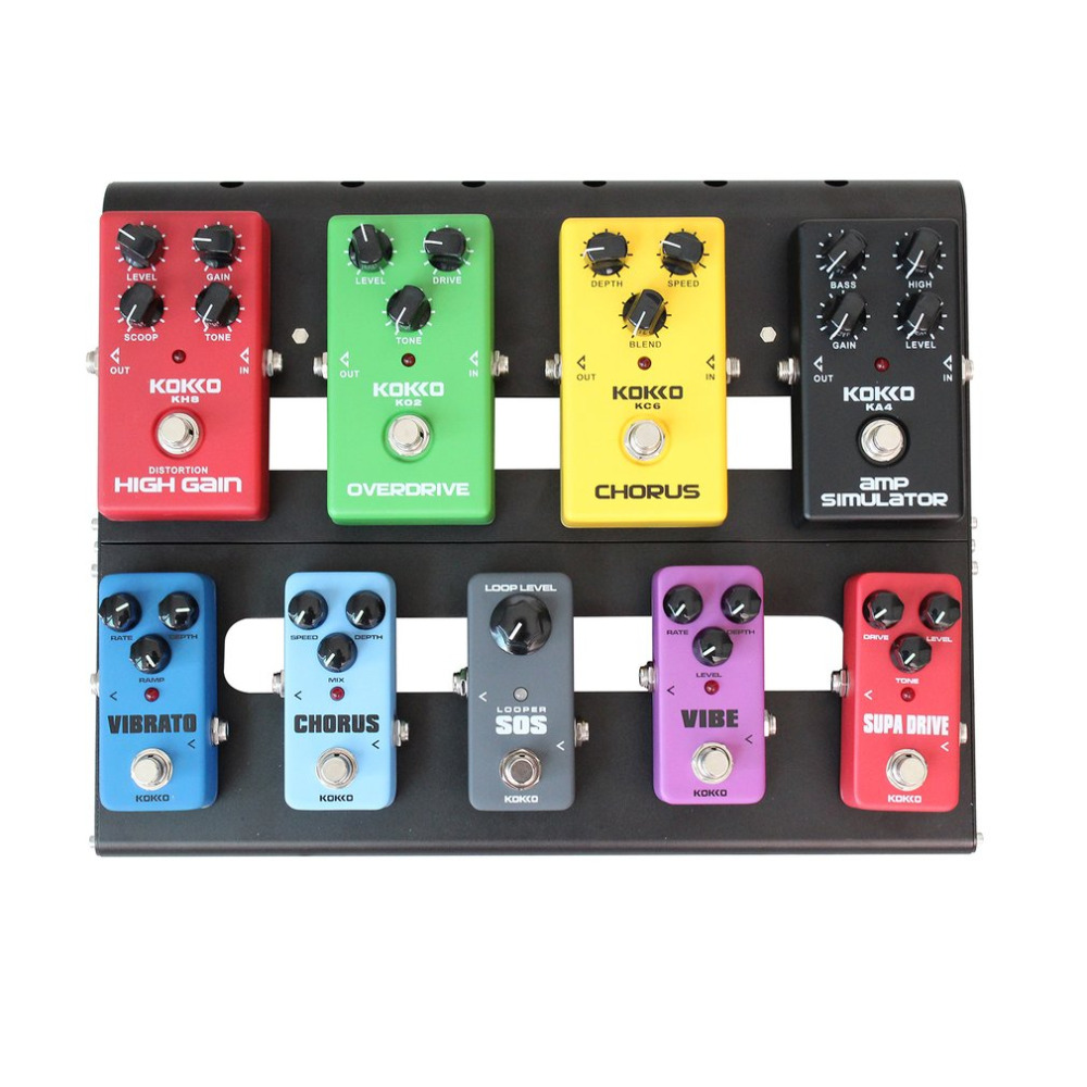 KOKKO KB-02 Guitar Effect Board Guitar Effect Pedal Board Aluminum Alloy Portable Pedalboard Musical Instrument Accessory New
