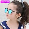Reedoon caliente niños diseñador de la marca gafas uv400 niños de alta calidad gafas de sol cateye enfant lunette de soleil gafas retro