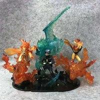 Hokage Anime Figure Statue Flame Namikaze Minato Uzumaki Naruto Hatake Kakashi PVC Limited Edition Action Collection Model Toys