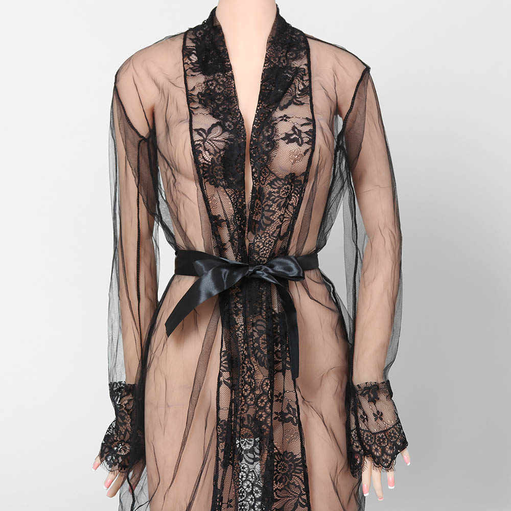 213a051b51 2019 Summer Fashion Hot Sale Women s Sexy Sexy Lace Robe Dress Bathrobes G- string Breathable