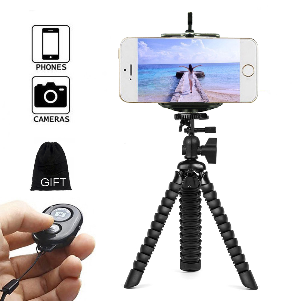 Flexible Gorillapod Octopus Mini Tripod for iPhone Samsung Xiaomi Huawei Phone Selfie Stick Smartphone Tripod for Gopro Camera