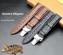 Watch Belt Customization Crocodile Leather Manufacturer Spot Wholesale Bamboo-striped American