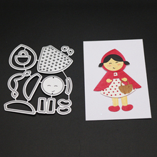 ZhuoAng Little girl design Cutting Mold DIY Scrapbook Album Decoration Supplies Clear Stamp Paper Card