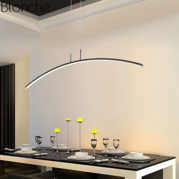 Modern Led Pendant Lights for Kitchen Dining Room Nordic Pendant Hanging Lamp Home Decor Acrylic Lustre Lighting Fixtures 220V