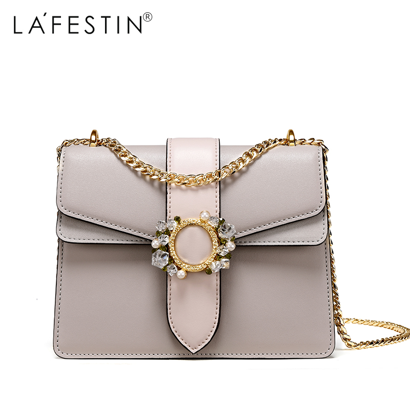 LAFESTIN 2017 Women Shoulder Leather Bag Chains Mini Ladies Single Crossbody Bags Female Bags