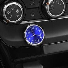 Relógio de horário automotivo luminoso, enfeites de relógio de quartzo para audi a4 b5 megane 3 tucson renault clio 2 alfa romeo 159 audi q7 megane 2