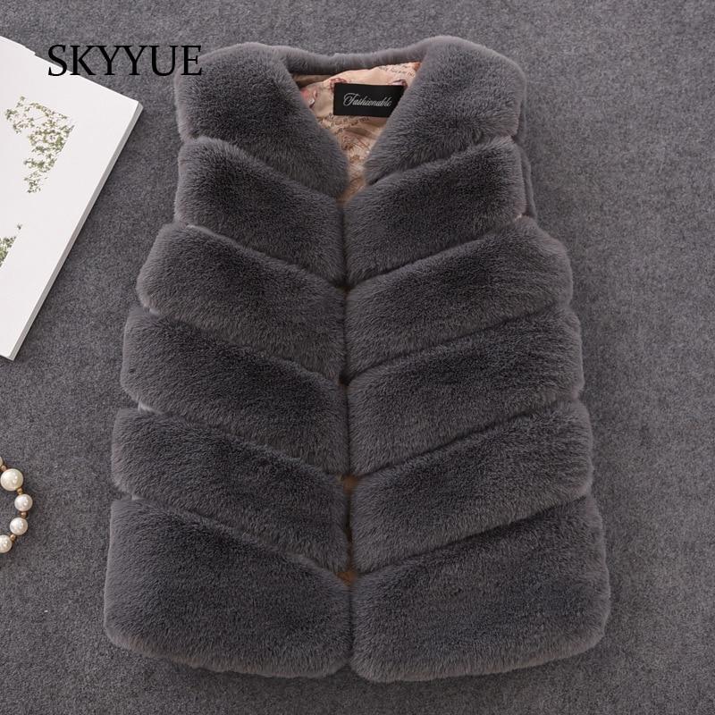 Infant 2018 New Winter Fashion Girls Fur Outerwear Thick Warm Faux Fur Vest V-neck Short Fur Colorful Vest for 12m-16y Clothing cx g b 112c thick design women fashion genuine raccoon fur vest