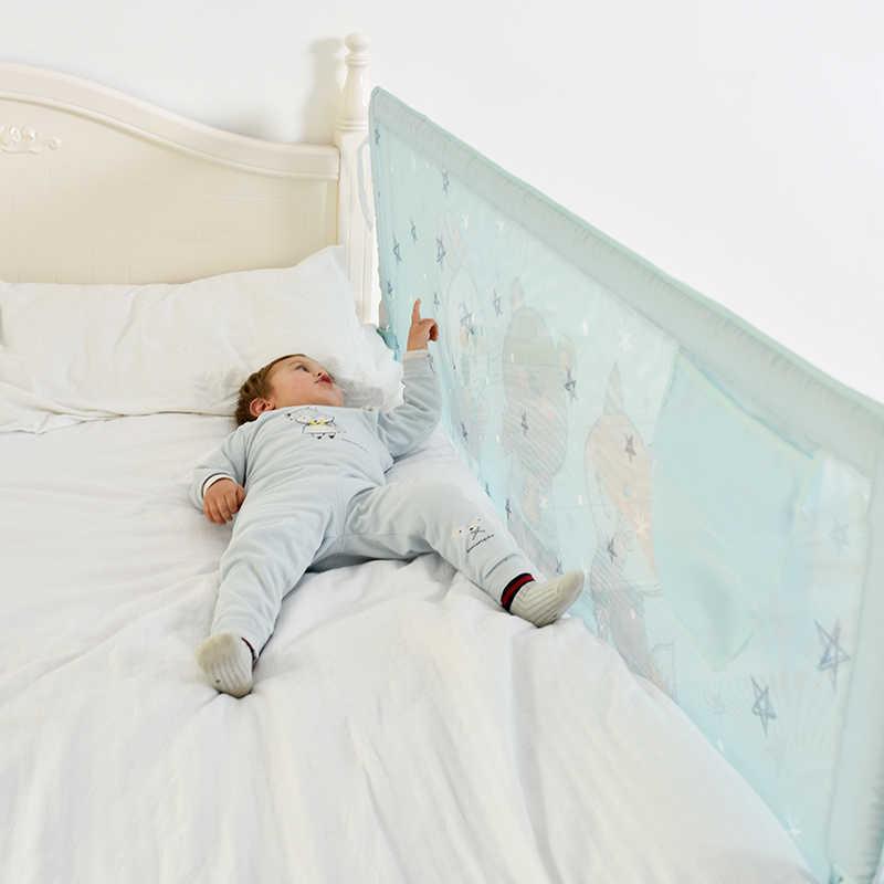 KOOLDOO ตาข่ายสองด้านเตียง guardrail เด็กทารก shatter-resistant รั้วเตียง 1.8-2 m เด็ก shatter-resistant guardrail