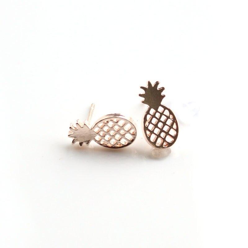 Best Friend Gift Minimalist Decoration Tiny Cute Pineapple Stud Earrings For Women Men BFF Jewelry