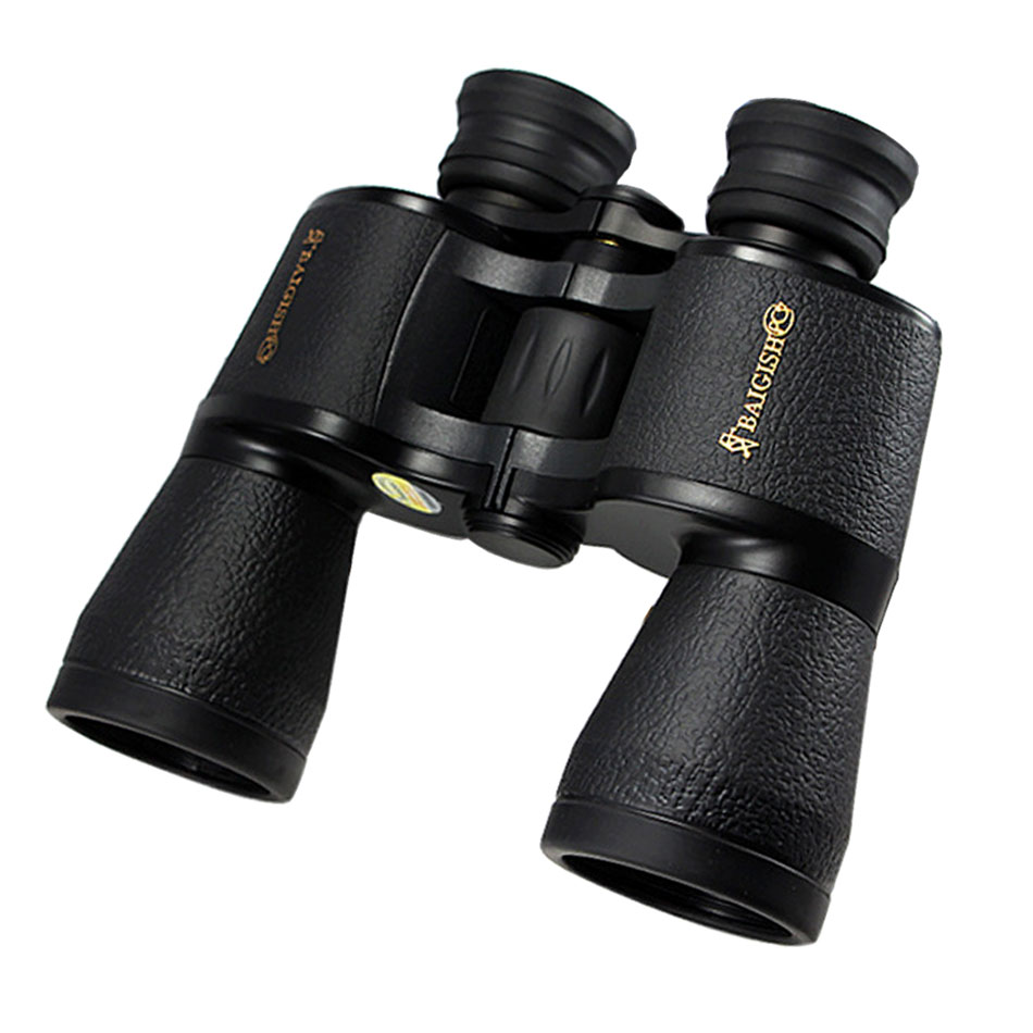 Binoculars Baigish 20X50 High quality wide angle Central Zoom Night Vision telescope golden type for hunting