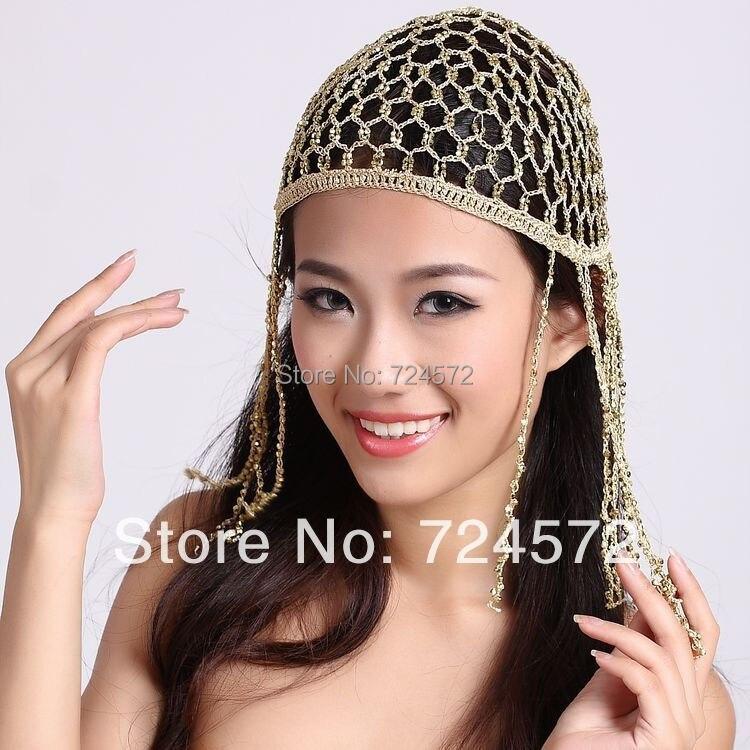 Belly Dance Tassel Hat Dance Hat Hair Accessory Gold Silver Belly Dance Hat