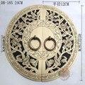 240 мм Китайский античный Мин и Цин мебель, медные двери медные ручки двери круглый DB-185 KF208