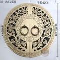 240mm Chino Ming y Qing muebles antiguos, puerta manija de la puerta de cobre de cobre redondo DB-185 KF208