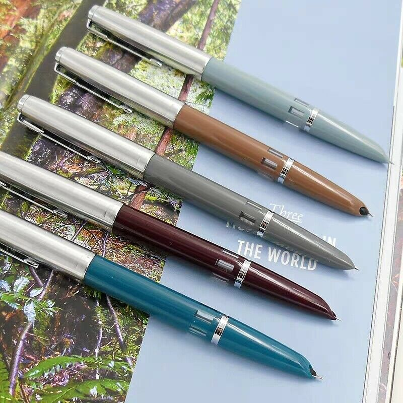 2019 New Version Wing Sung 601 Steel Cap Vacumatic Double Bead Fountain Pen Stationery Office School Supplies Penna Stilografica
