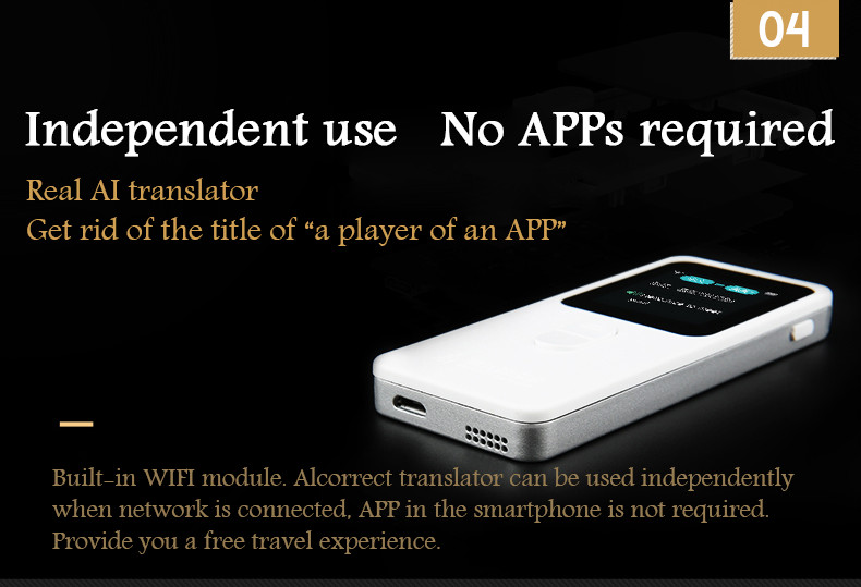 JoneR voice translator support 39 languages accuracy rate is 100% two-way voice translator smart interpreterJoneR voice translator support 39 languages accuracy rate is 100% two-way voice translator smart interpreter
