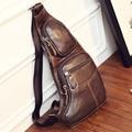 New Men Genuine Leather Cowhide Vintage Sling Single Chest Back Day Pack Travel Famous Casual Cross Body Messenger Shoulder Bag