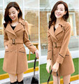 Uwback Wool Blends Coat Woman 2017 New Spring/Autumn Slim Plus Size Trench Outwear Jackets Women TB1219