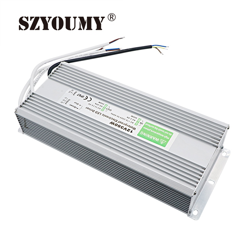 SZYOUMY LED Power Supply Electronic Driver Transformer 12V 250W 20.8A Waterproof IP67 For LED Strip Light AC 100~250V to DC 12V dhl free ship 250w waterproof led power supply ac90 250v to 12v 24v output constant voltage driver 2 year warranty transformer