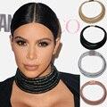 5 cores da moda chic bobinas choker colar multilayer corda enrolada cadeia kardashian ímã colar colar juran maxi jóias