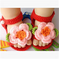 2017 New Fashion baby Toddler shoes summer Baby Girls Handmade Weave round neck schoen baby flower design knitted shoes
