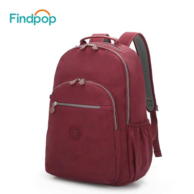cad4067cab48b Findpop mochila mujer 2018 moda estudiante Universidad Mochilas gran  capacidad lona impermeable bolsas de escuela para
