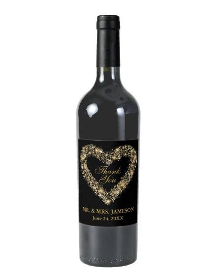 Po meri poročna etiketa za steklenico vina, prilagodljive etikete vina poročni tuš, personalizirane neveste za darila za neveste
