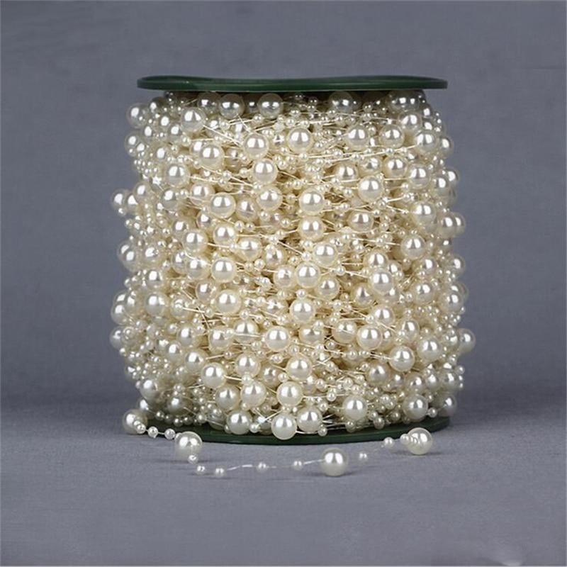 Acheter Livraison gratuite 75 m 8 + 3 mm belle en plastique étoiles main perles mariée Bouquet accessoires pour le mariage décoration fleur artificielle de bouquet accessories fiable fournisseurs