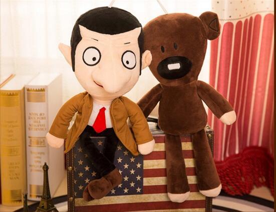 Cute cartoon 1pc 30cm Mr Bean teddy bear doll plush toys birthday gifts lovely 22cm mr bean teddy bear plush doll