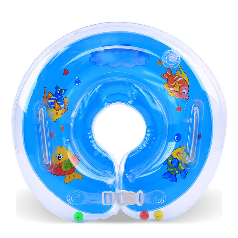 Baby Bath Swimming Neck Float Inflatable Circle Adjustable Safety ...