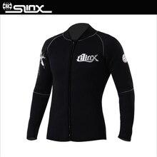 SLINX 3mm Neoprene Winter Wetsuit Jacket Men Female Rash Guard Vest Scuba Diving Swimwear Coat Snorkeling Long Sleeve Swimsuit цена в Москве и Питере