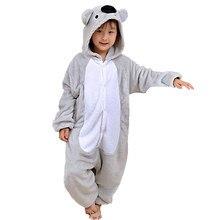 1b122b830ac Attractive Koala Kigurumi Children Onesies Cartoon Kids Flannel Pajamas  Baby One piece Sleepwear Cosplay For Halloween Jumpsuit