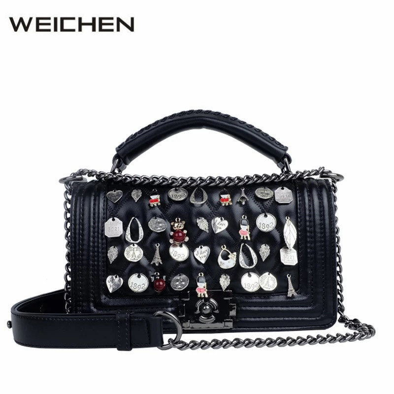 Badge Designer Handbags High Quality 2017 Newest Fashion Women Crossbody Bags Shoulder Bag Female Handbag Ladies Hand Bag Tassen leftside fashionable 2017 women tassel designer rivet boston bag female handbag woman hand bags shoulder bag with wide strap