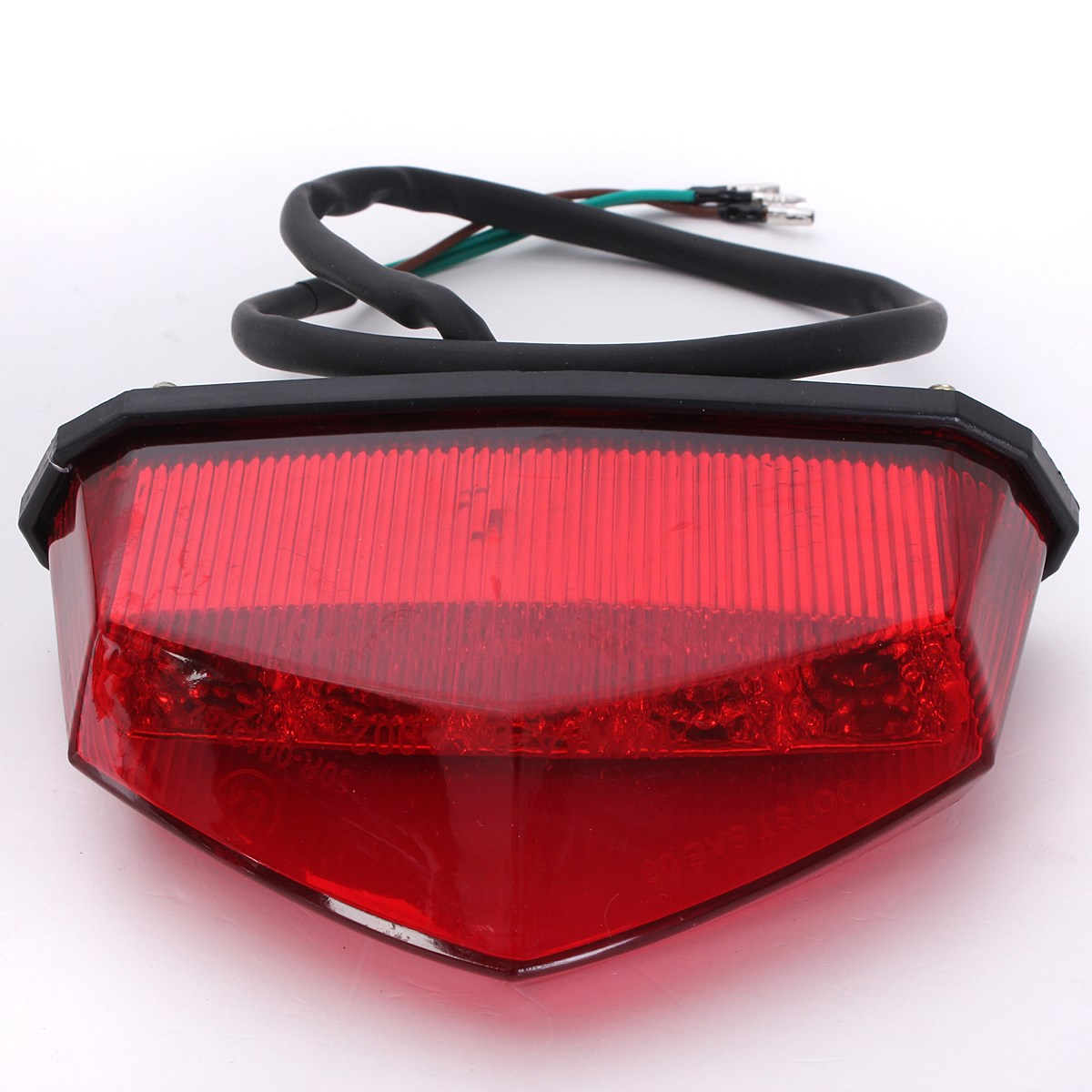 Buy 12v 3 Wiring Universal 10 Leds Red Motorcycle Brake Light Dirt Bike Plate Lamp Rear Tail From Reliable Led Suppliers On