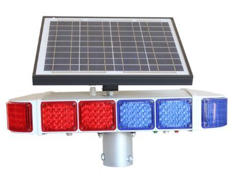 Lampes de poche solaires, lampes stroboscopiques LED, lampes d'avertissement de construction nocturne, feux de barrage routier, lampes de poche à cercle bleu