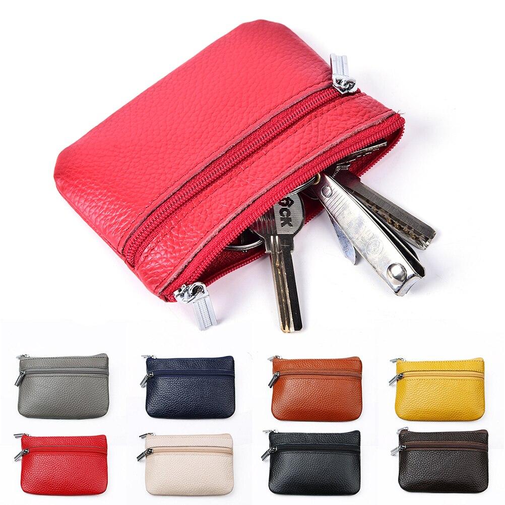 1 Pcs Haushälterin Schlüssel Organizer Männer Schlüsselbund Reißverschluss Schlüssel Fall Tasche Münzfach Geldbörse Pu Leder Auto Schlüssel Brieftaschen Frauen Schlüssel Halter Modische Muster