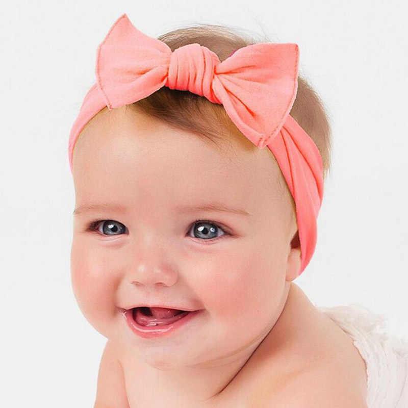 1PCS Newborn Lovely Bow Headband Cotton Bowknot Hairband Turban Knot  Headwear For Newborn Kids Hair Accessories b470004a79b8