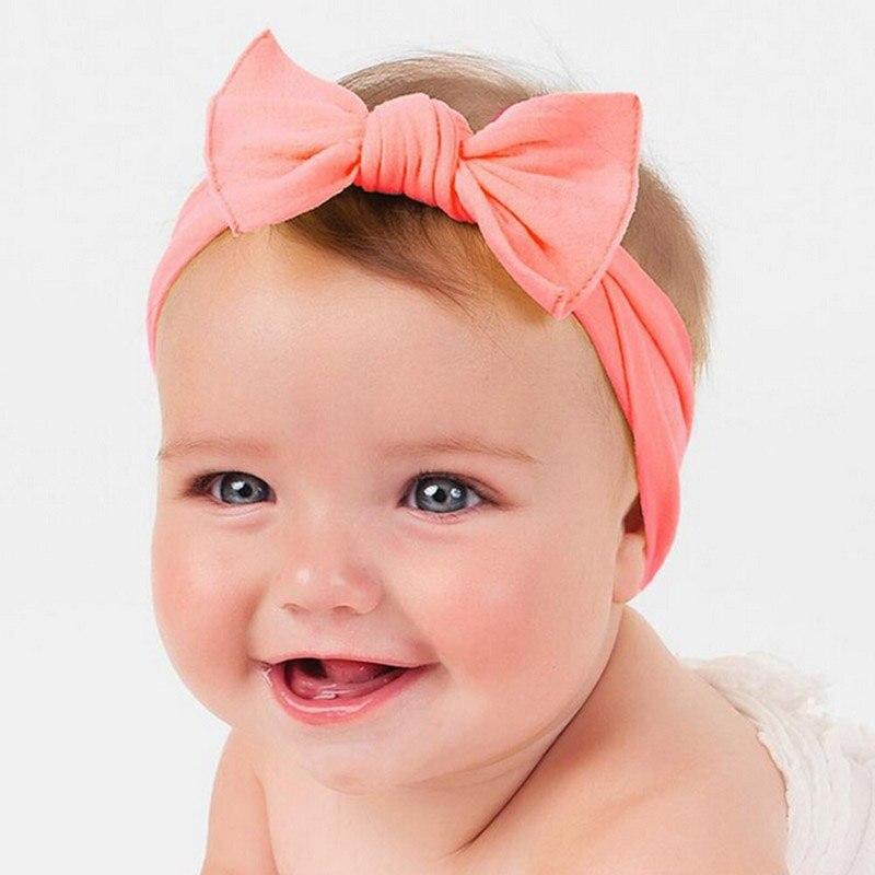 1PCS Newborn Lovely Bow Headband Cotton Bowknot Hairband Turban Knot Headwear For Newborn Kids Hair Accessories