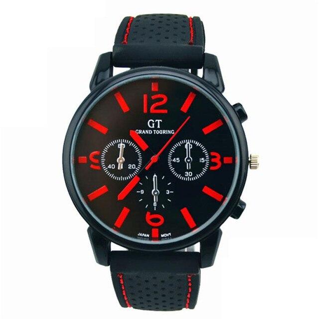 Relojes de hombre de lujo de marca superior de acero inoxidable reloj  deportivo de cuarzo con 7d2653350910