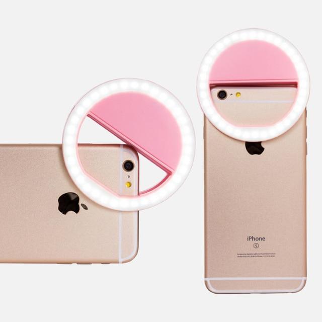 Selfie anneau téléphone portable pince lentille lumière lampe Litwod Led ampoules d'urgence batterie sèche pour appareil Photo bien Smartphone beauté 4