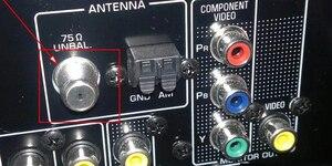 """Image 4 - 3 metrów pozłacane śruby FM anten wewnętrznych mężczyzna """"F"""" złącze 75 Ohm anteny nadaje się do radia odbiornik wzmacniacz audio"""