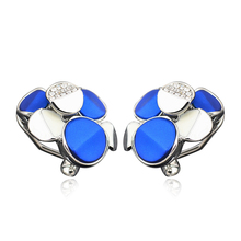 Imitaition white gold Color Geometric accessories earrings Korean Fashion Earrings for Women E00954