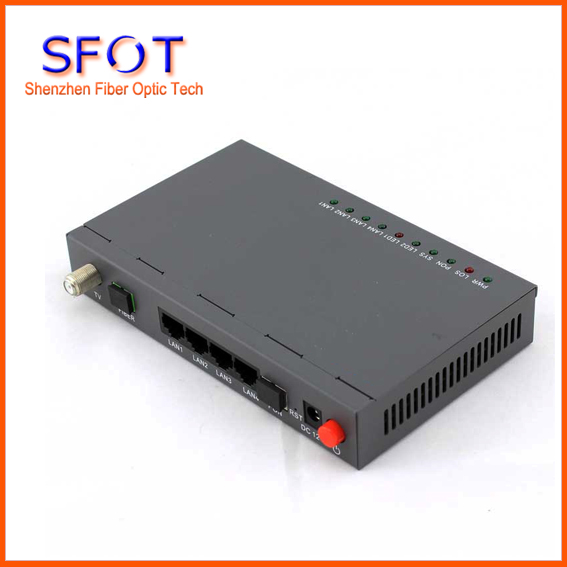 Network Routers Telecom Equipment ONU EPON GEPON ONU ONT,SFOT-4GE+CATV EPON ONU